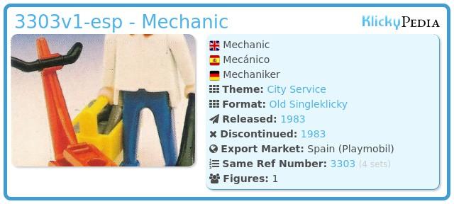 Playmobil 3303v1-esp - Mechanic