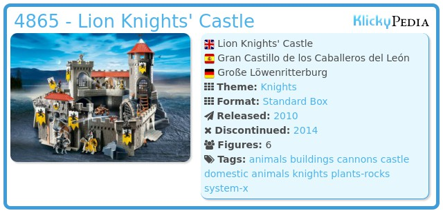 Playmobil 4865 - Lion Knights' Castle