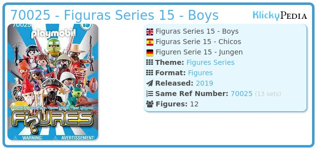 Playmobil 70025 - Figures Series 15 - Boys