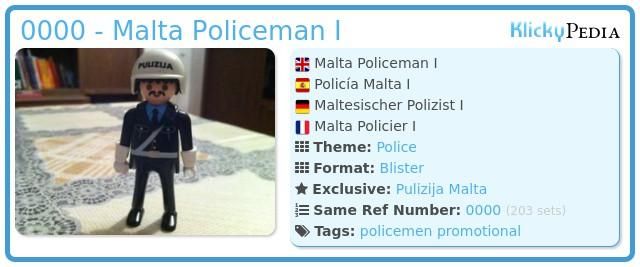 Playmobil 0000 - Malta Policeman I