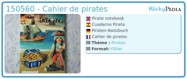 Playmobil 0000 - Cahier de pirates