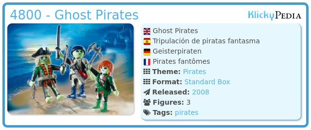Playmobil 4800 - Ghost Pirates