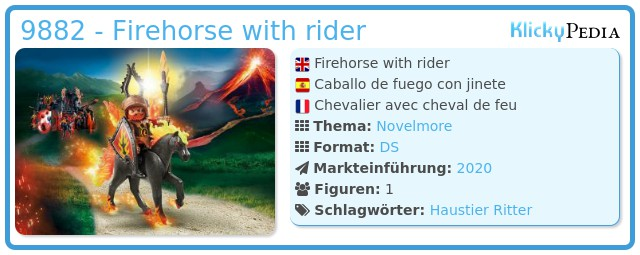 Playmobil 9882 - Firehorse with rider