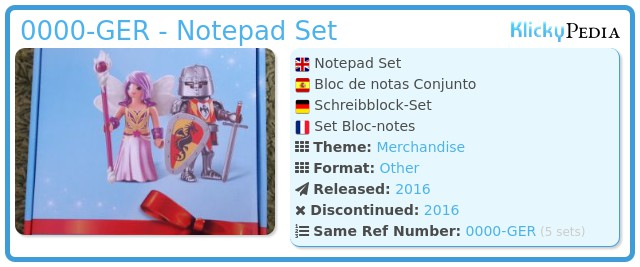 Playmobil 0000-GER - Notepad Set