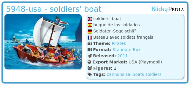 Playmobil 5948-usa - soldiers' boat