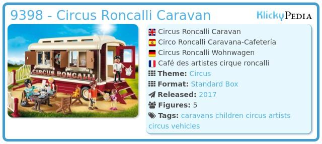 Playmobil 9398 - Circus Roncalli Caravan