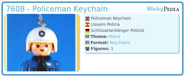 Playmobil 7608 - Policeman Keychain