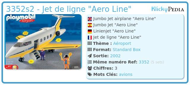 Playmobil 3352s2 - Jet de ligne