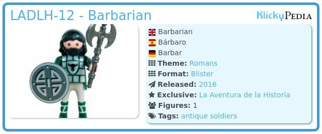 Playmobil LADLH-12 - Barbarian