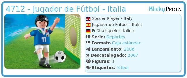 Playmobil 4712 - Jugador de Fútbol - Italia