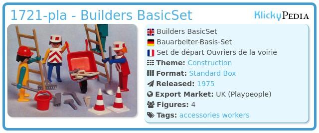 Playmobil 1721-pla - Builders BasicSet