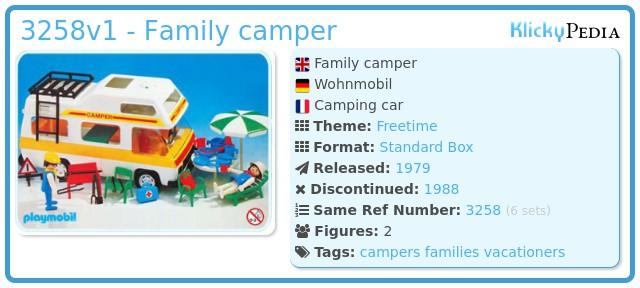 Playmobil 3258v1 - Family camper