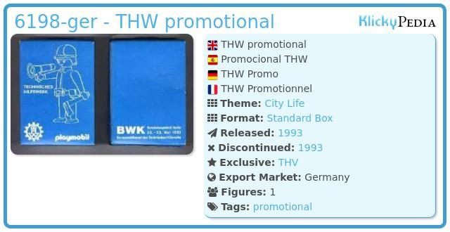 Playmobil 6198-ger - THV promotional
