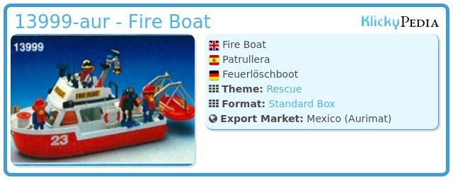 Playmobil 13999-aur - Fire Boat