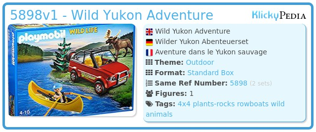 Playmobil 5898v1 - Wild Yukon Adventure