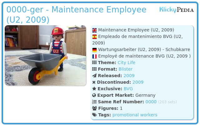 Playmobil 0000-ger - Maitenance Employee (U2, 2009)