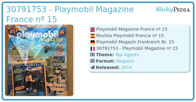 Playmobil 30791753 - Playmobil Magazine France nº 15