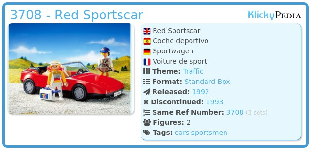 Playmobil 3708 - Red Sportscar