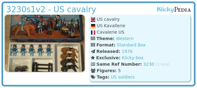 Playmobil 3230s1v2 - US cavalry
