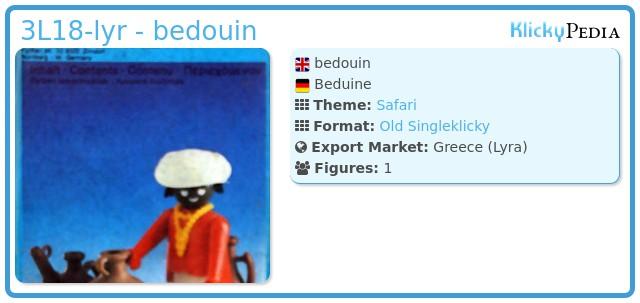 Playmobil 3L18-lyr - bedouin