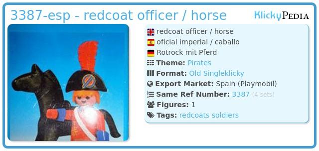 Playmobil 3387-esp - redcoat officer / horse