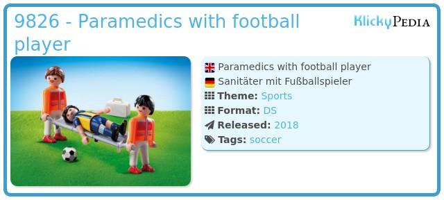 Playmobil 9826 - Paramedics with football player