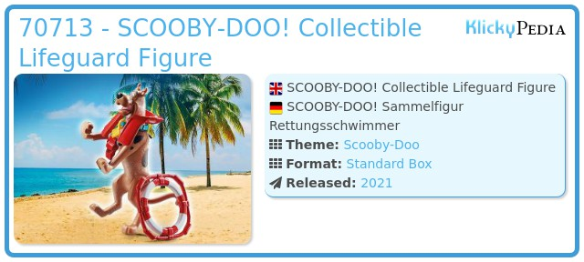 Playmobil 70713 - SCOOBY-DOO! Lifeguard Action Figure