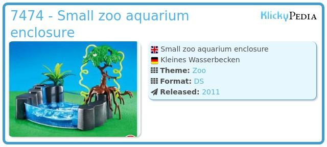 Playmobil 7474 - Small zoo aquarium enclosure