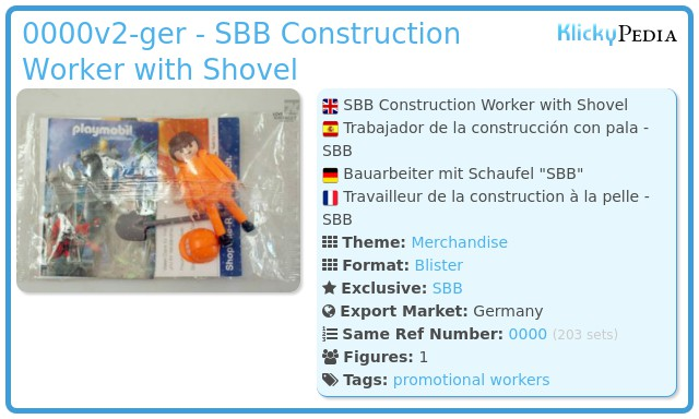Playmobil 0000v2-ger - SBB Construction Worker with Shovel