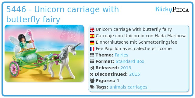 Playmobil 5446 - Unicorn carriage with butterfly fairy