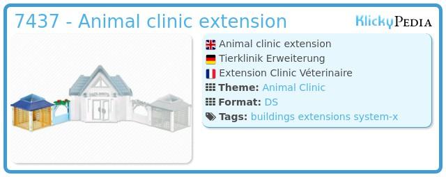 Playmobil 7437 - Animal clinic extension