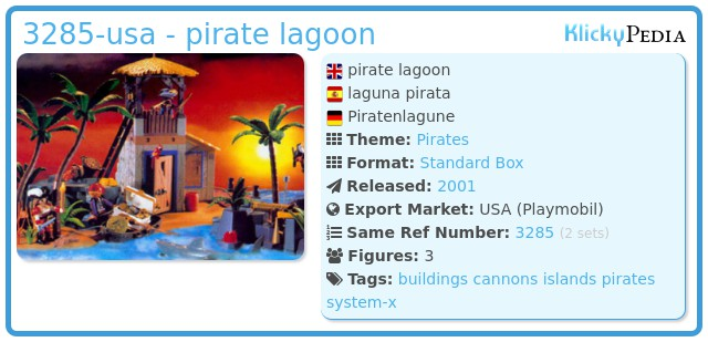 Playmobil 3285-usa - pirate lagoon