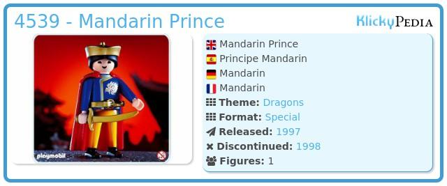 Playmobil 4539 - Mandarin Prince