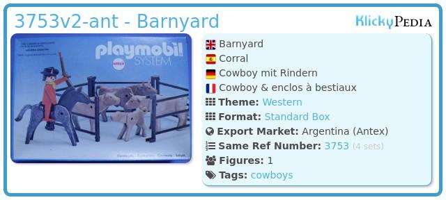 Playmobil 3753v2-ant - Barnyard