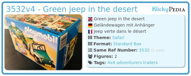 Playmobil 3532v4 - Green jeep in the desert