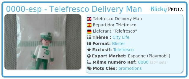Playmobil 0000-esp - Telefresco Delivery Man
