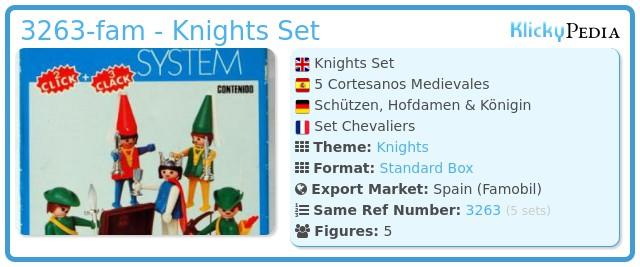 Playmobil 3263-fam - Knights Set