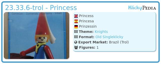 Playmobil 23.33.6-trol - Princess