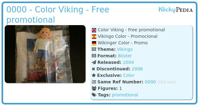Playmobil 0000 - Color Viking - Free promotional