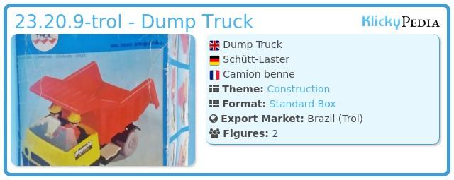 Playmobil 23.20.9-trol - Dump Truck