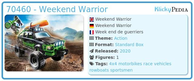 Playmobil 70460 - Weekend Warrior