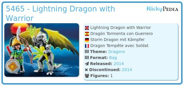 Playmobil 5465 - Lightning Dragon with Warrior