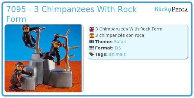 Playmobil 7095 - 3 Chimpanzees With Rock Form
