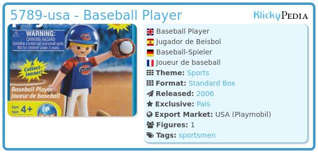 Playmobil 5789-usa - Baseball Player