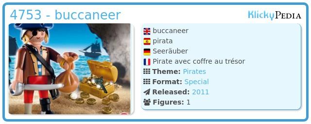 Playmobil 4753 - buccaneer