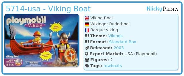 Playmobil 5714-usa - Viking Boat