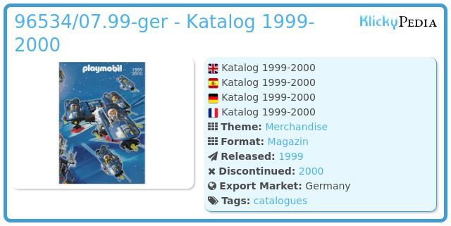 Playmobil 96534/07.99-ger - Katalog 1999-2000