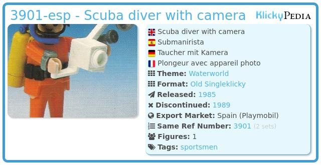 Playmobil 3901-esp - Scuba diver with camera