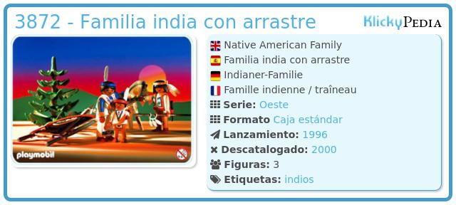 Playmobil 3872 - Familia india con arrastre