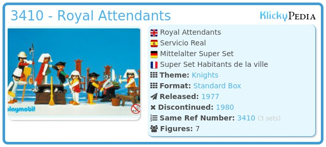Playmobil 3410 - Royal Attendants